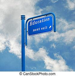 út cégtábla, fordíts, oktatás