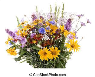 út, darabka, bouquet., elszigetelt