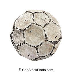 út, darabka, labda, öreg, futball