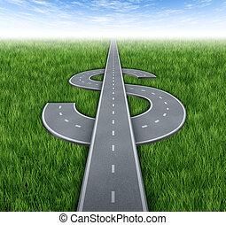 út, fordíts, gazdagság