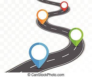 út, képben látható, áttetsző, háttér