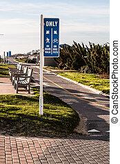 út, sétány, bicikli, tengerpart, virginia