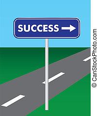 út, siker, aláír