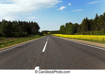 út, vidéki, canola