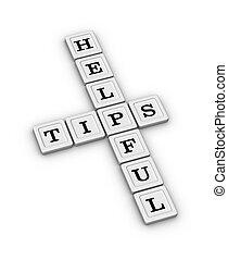 útil, sugestões, crossword, puzzle.