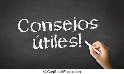 útil, sugestões, (in, spanish)