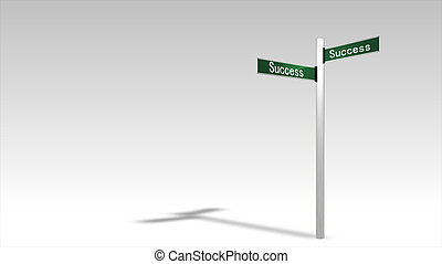 útjelző tábla, siker