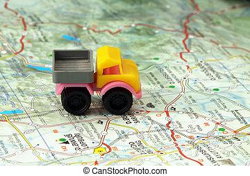útlý vagón, mapa