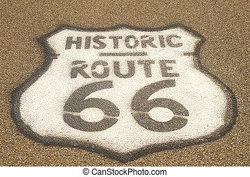 útvonal, útburkolat, 66, aláír