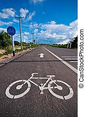 útvonal, bicikli