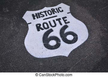 útvonal, cégtábla., 66