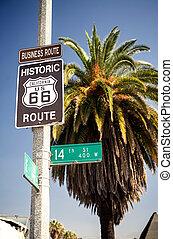 útvonal, történelmi, 66, autóút cégtábla