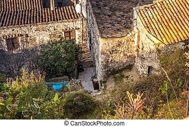 über die Dächer von Viviers ardeche Frankreich - over the...