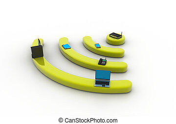 über, pc, l, telefon, internet, router