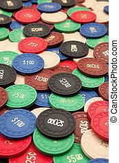 überfluss, von, poker- späne