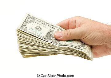 übergabe, geld