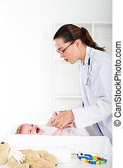 überprüfung, pädiatrisch