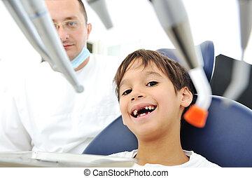überprüfung, zahnarztes, z�hne