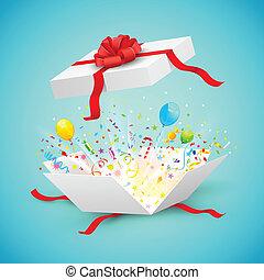 überraschung, geschenk, feier