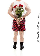 überraschung, rosen, für, valentinestag