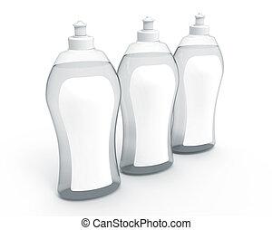 übertragung, dishwashing flüssigkeit, 3d