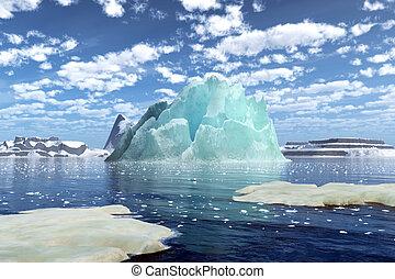 übertragung, eisberg