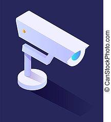 überwachung, oder, cctv, daheim, fotoapperat, sicherheit, klug