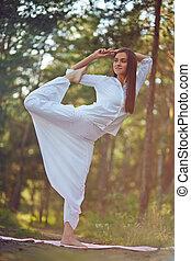 übung, für, flexibilität