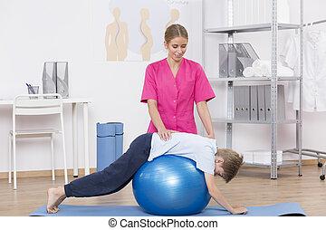 übung kugel, workout