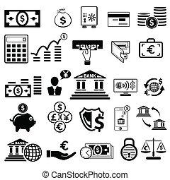 ügy, és, pénzel, ikon