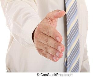 ügy bábu, noha, egy, nyit kezezés, hajlandó, fordíts, fóka, egy, üzlet