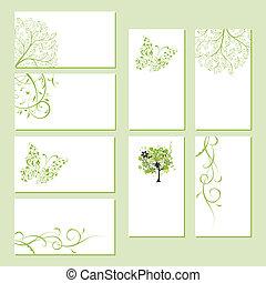 ügy, -e, virágos, díszlet tervezés, kártya, díszítés