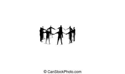 ügy emberek, karika, rotating., bukfenc, képben látható,...