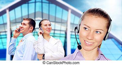 ügy, hívás, építészet, háttér, üzletember, boldogság