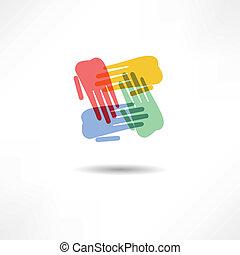 ügy, icon., handshake., transaction.