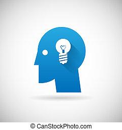 ügy, jelkép, kreativitás, gondolat, ábra, vektor, tervezés, sablon, ikon