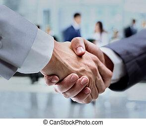 ügy, kézfogás, és, ügy emberek