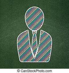 ügy, marketing, chalkboard, háttér, concept:, ember