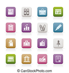 ügy, pénzel, hivatal icons