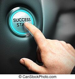 ügy, siker, fogalom, motivációs, film