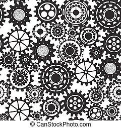 ügy, szerkezet, concept., elvont, háttér, noha, összekapcsolt, fogaskerék-áttétel, és, ikonok, helyett, stratégia, szolgáltatás, analytics, kutatás, seo, digitális, marketing, közöl, concepts., vektor, seamless, motívum, ábra