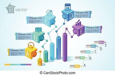 ügy, táblázatok, és, ábra, infographics