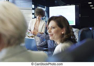 ügy woman, birtoklás, konzultációk, noha, befog