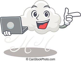 ügyes, betű, tanulás, felhős, laptop, diák, szeles, ...