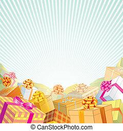 ünnep, ajándékoz