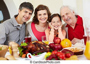 ünnep, család, boldog