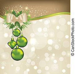 ünnep, háttér, noha, karácsony, herék