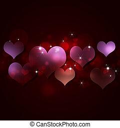 ünnep, valentine kártya
