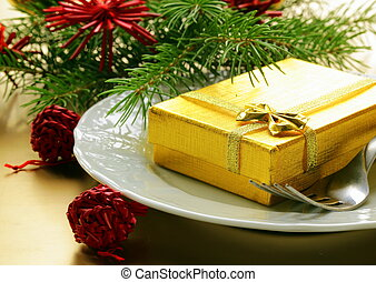 ünnepies, karácsony, asztal letesz
