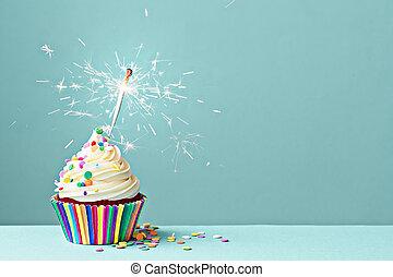 ünneplés, cupcake, noha, gyémánt